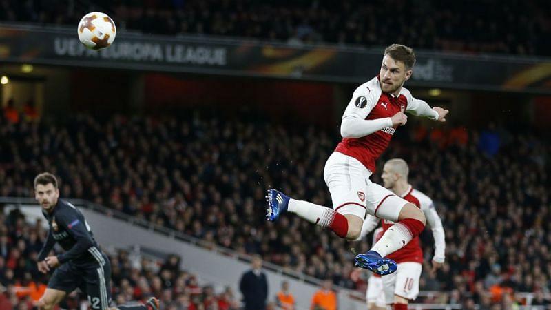 Ramsey scoring against CSKA in the Europa league