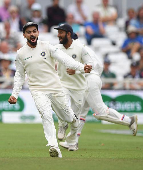 Virat Kohli Celebrating fall of a wicket