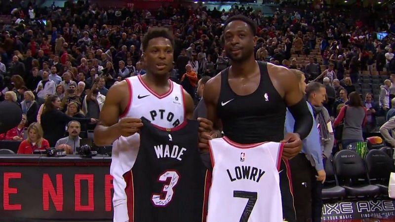 Kyle Lowry and Dwayne Wade