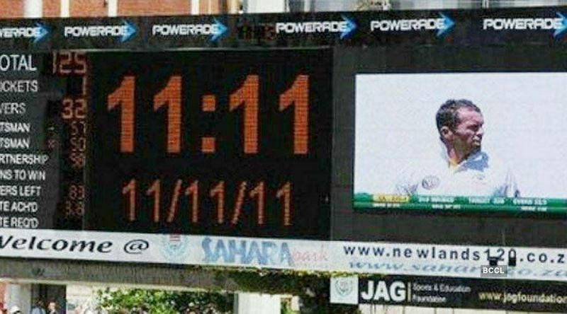 On November 11, 2011, at the exact time of 11:11 am South Africa needed 111 runs to win the Test match
