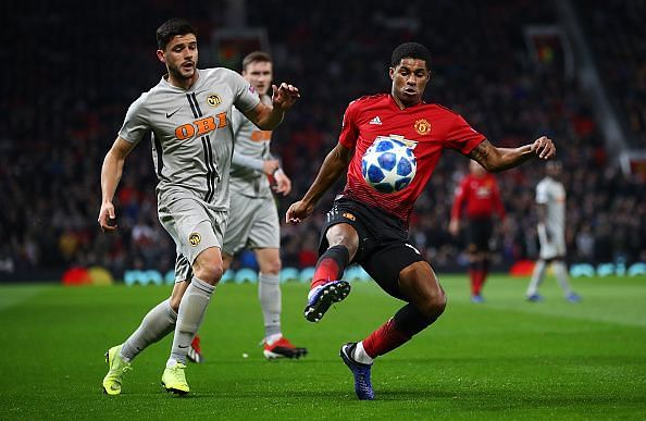 Action from Manchester United v BSC Young Boys at the UEFA Champions League Group H match