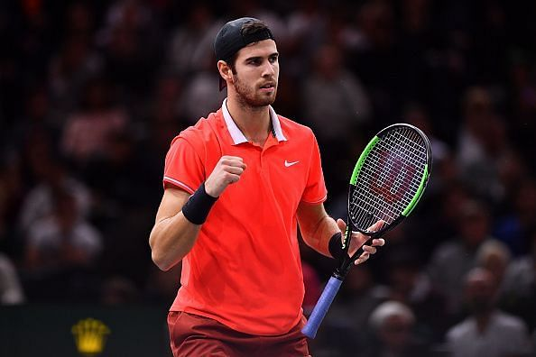 Khachanov has notched up three consecutive wins over top 10 players