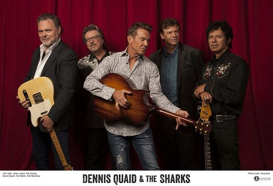 Dennis Quaid & The Sharks / Photo courtesy of Omnivore Recordings