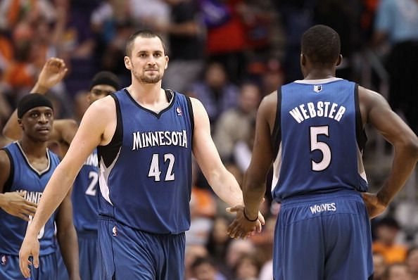 Kevin Love achieved this feat when he was playing for the T-Wolves
