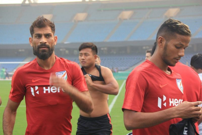 While Sunil Chhetri has been the primary force in the attack, Balwant Singh (left) has been the game changer, coming off the bench to chip in with a goal or two when the chips are down. AIFF Media