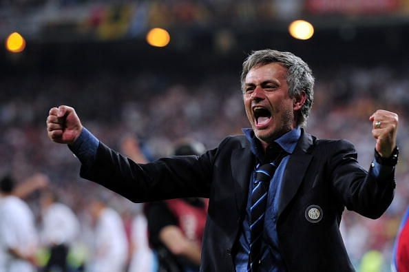 Mourinho during happier days.