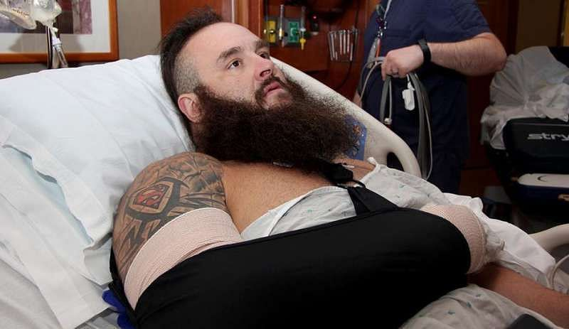 Braun Strowman was apparently injured in a beat-down on the last episode of Raw