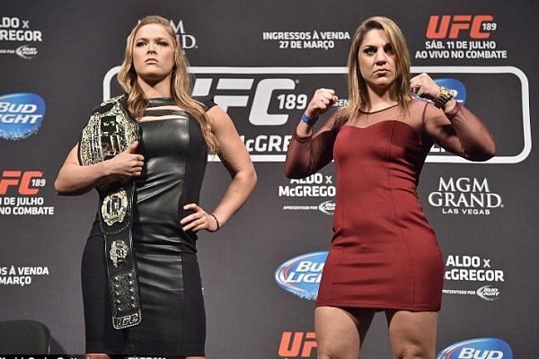 Bethe Correia somehow challenged Ronda Rousey for her title in 2015