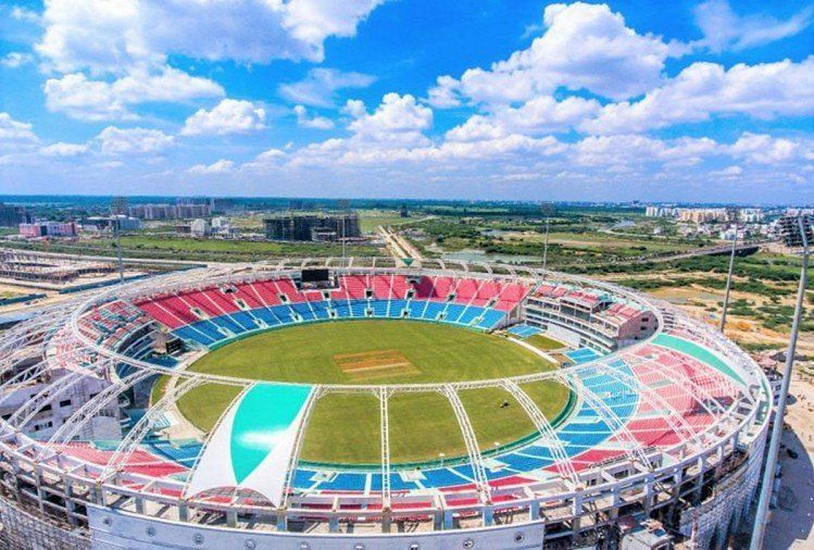 The newly built stadium recently hosted its first international match