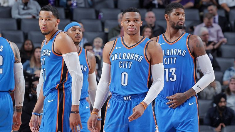 Oklahoma City Thunder in their current home uniform