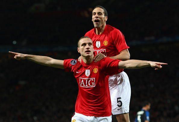 Nemanja Vidic and Rio Ferdinand,both left Manchester United on a free transfer