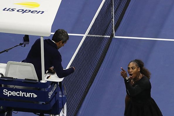 2018 US Open - Day 13: Serena arguing with Carlos Ramos