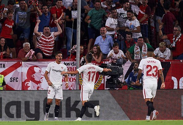 Andre Silva (Left) and Pablo Sarabia (Middle) have started the season well