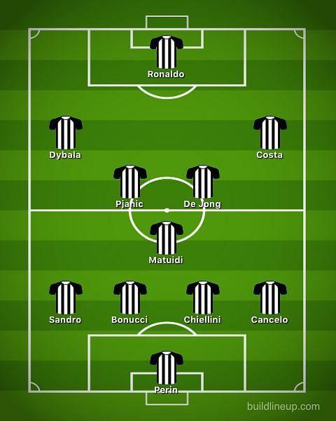 Juventus with De Jong