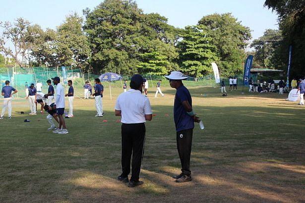 Sachin Tendulkar and Vinod Kambli at the TMGA camp