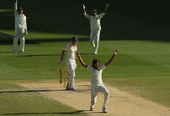 Australia v India: Ishant Sharma appealing for a wicket