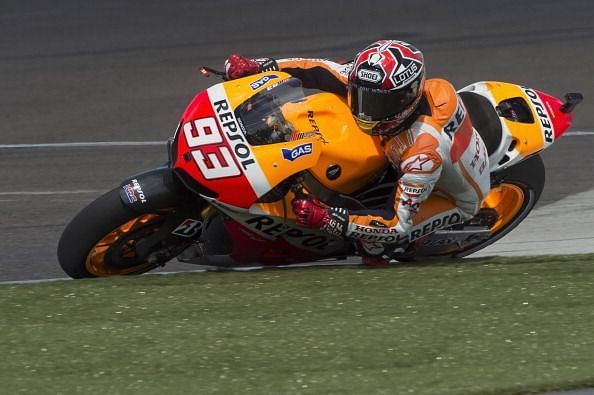 Marquez secured his first MotoGP win in the second race of his career