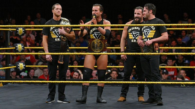 Roderick Strong (far right) with the rest of The Undisputed Era
