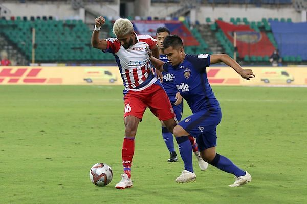 Jayesh Rane and Jerry Lalrinzuala in action [Image: ISL]