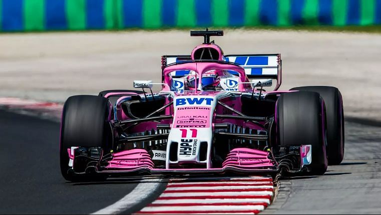 Sergio Perez at the Belgian Grand Prix 2018