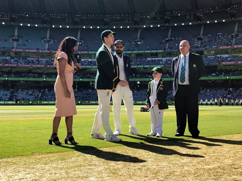 Virat & Paine During Toss