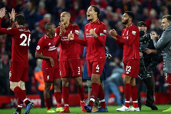 Liverpool are menacing and currently at the top of the league by a single point