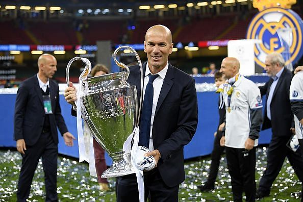 Zidane is the second most successful manager in Real Madrid
