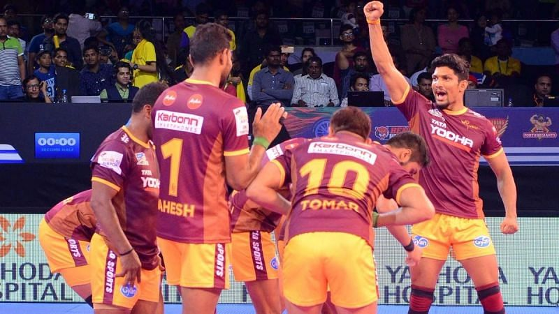 The Yoddhas got back Rishank Devadiga for Rs.1.1 crores at the PKL 2018 auction.