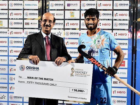 Varun Kumar was the standout player in the match