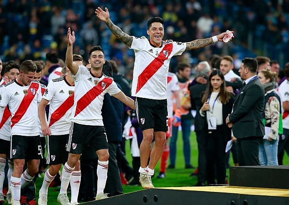 River Plate players showed great spirit despite going down, and Quintero was essential to that,
