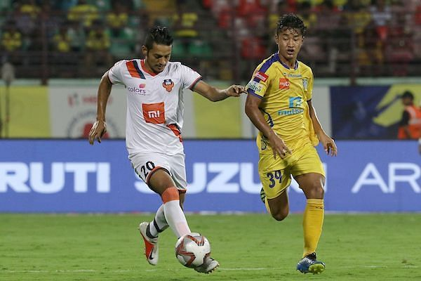 Seriton Fernandes (left) has proved to be a vital cog for FC Goa this season [Image: ISL]