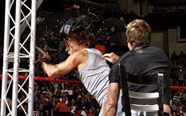 In one of the most brutal wrestling moments, Y2J drives HBK through the Jeritron 5000!