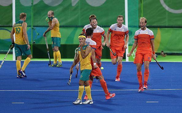 The Dutch beat Australia 4-0 in a revenge match in the Rio quarterfinal