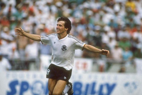 Lothar Matthaus played for Germany in five FIFA World Cup tournaments
