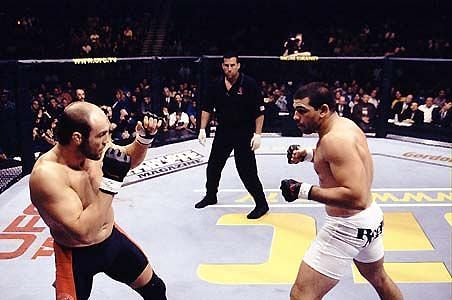 Randy Couture and Pedro Rizzo compete in the headliner