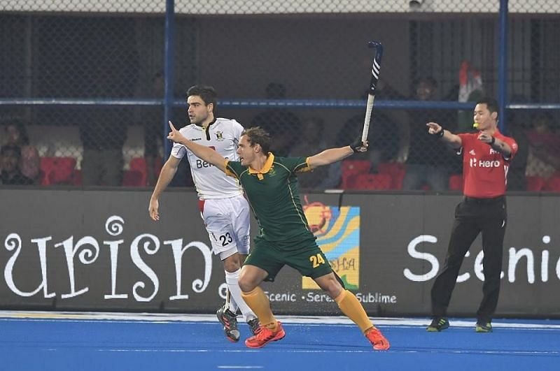 South Africa earned a shock lead in the first quarter