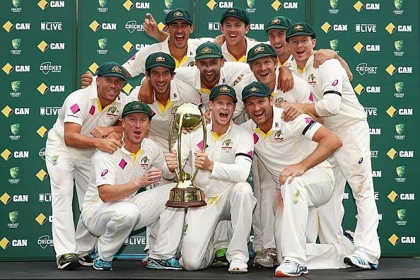 Australia v India: Australian Team after winning the series