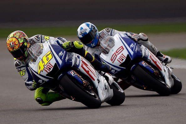 Rossi and Lorenzo had a fantastic duel at the Circuit de Catalunya