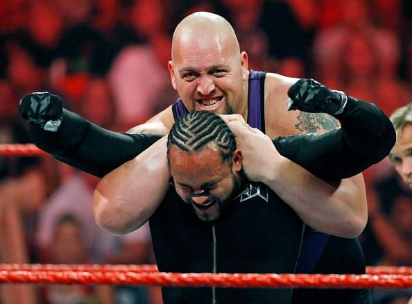 Big Show towers over his opponents and physically dominates them.