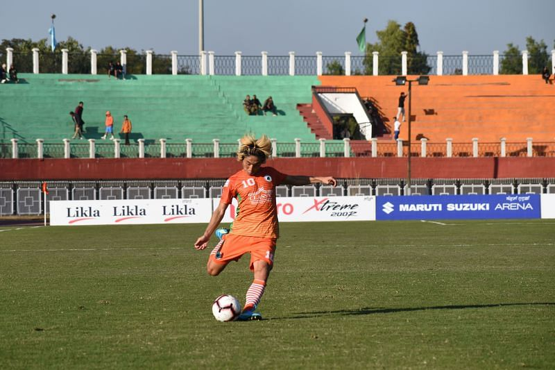 Katsumi Yusa scored after just 13 seconds against Churchill Brothers in an I-League match