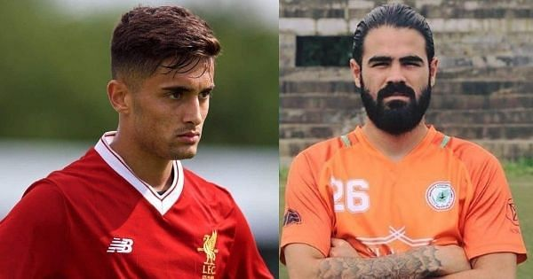 Liverpool prospect Yan Dhanda (left) and Aryn Williams of NEROCA FC