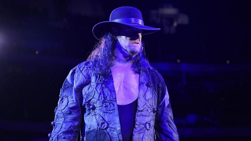 The Undertaker makes his way to the ring