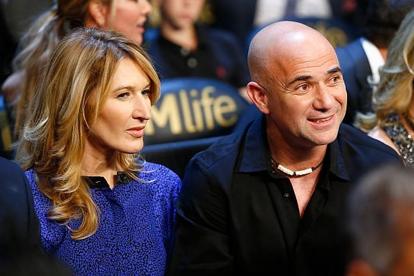 Steffi Graf and her husband Andre Agassi - the only husband-wife duo to win the Australian Open Singles title