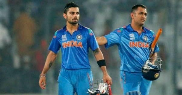 Image result for dhoni asks kohli to hit winning runs in semi final