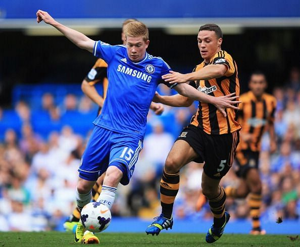 Kevin De Bruyne made only three appearances for the Blues