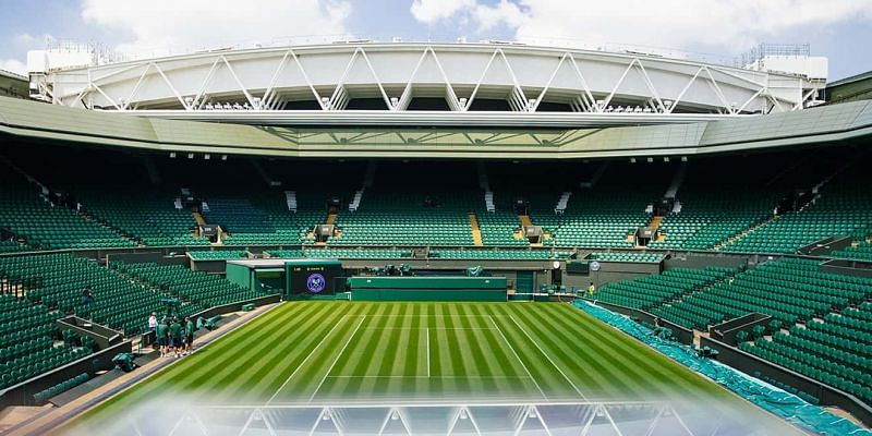 The iconic Centre Court at Wimbledon