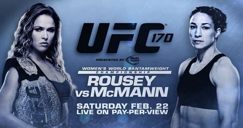 Ronda Rousey clashed with Sara McMann in the headliner