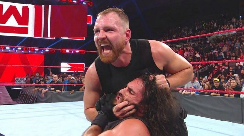 Dean Ambrose attacks Seth Rollins