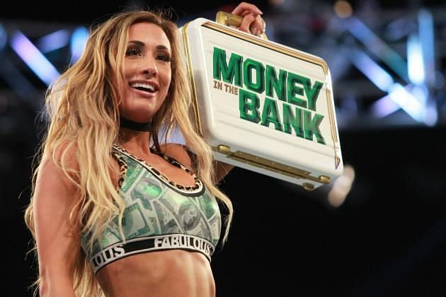 Carmella cashed in her Money in the Bank contract to become Women