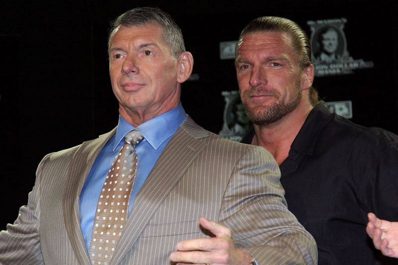 Image result for triple h and vince mcmahon